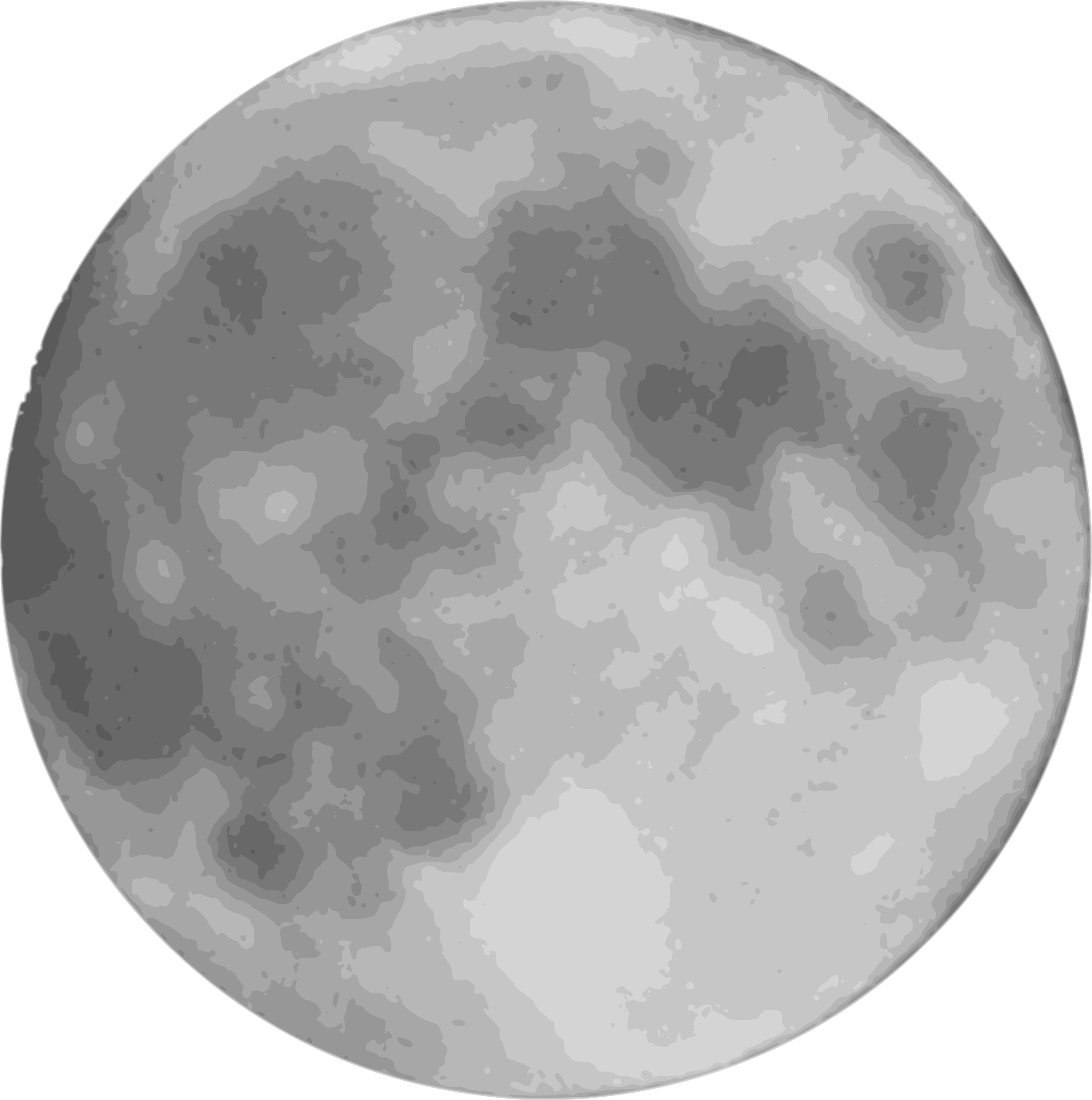 Full Moon PNG Black And White