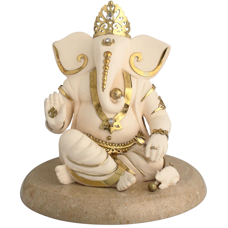 Ganesh Ashirwad Idol In Brass - Ganesh Idol, Transparent background PNG HD thumbnail