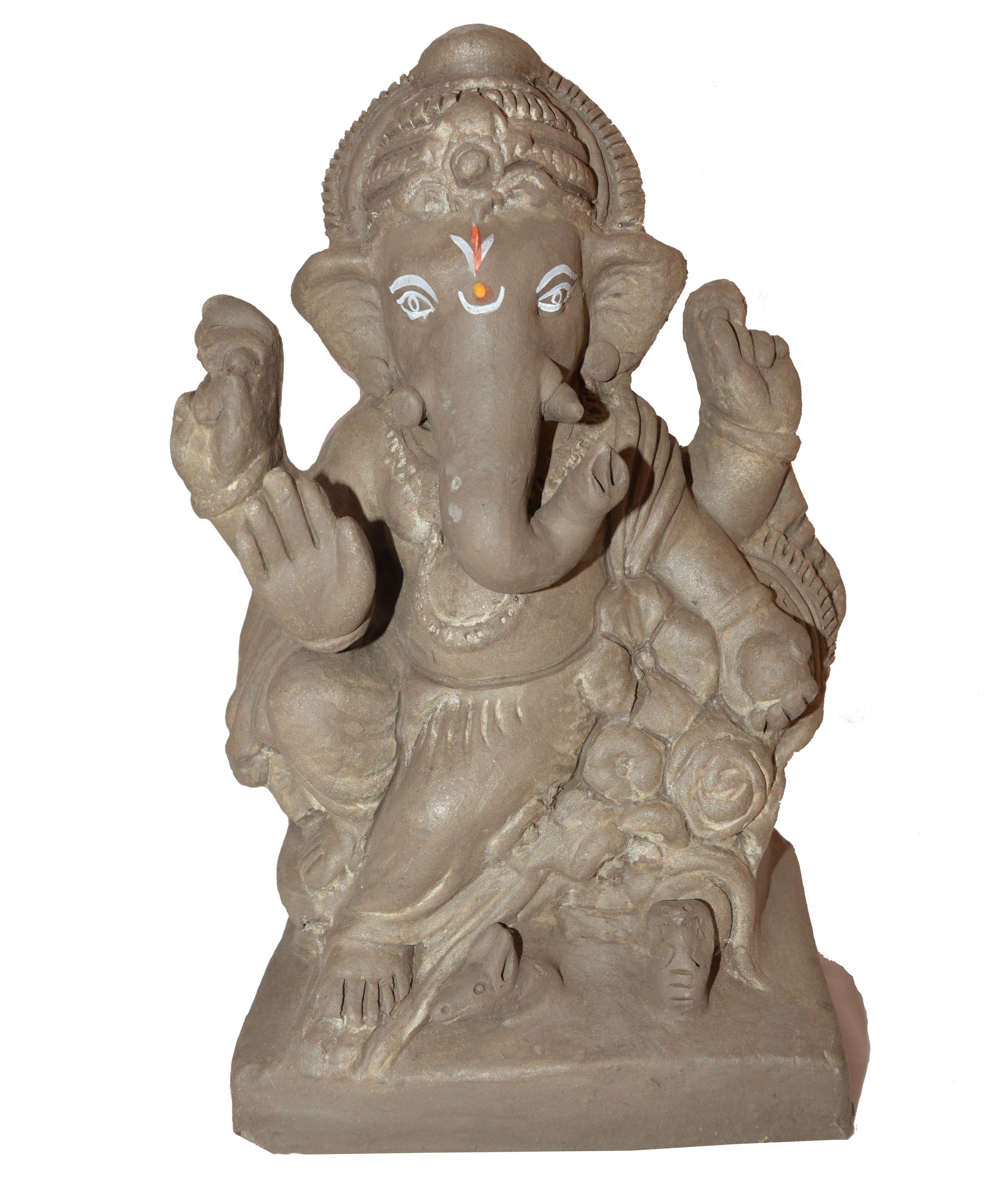 Ganesha Idols Made Of Clay And Natural Manure : Height   7 Inches - Ganesh Idol, Transparent background PNG HD thumbnail