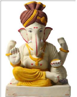 If Regular Paint Used, Still Can Cause Pollution. - Ganesh Idol, Transparent background PNG HD thumbnail