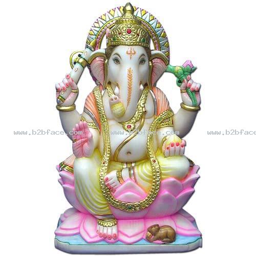 Marble Ganesh,marble Ganesh Statue,marble Ganesha Statue,ganesh Statue, Ganesha Statue - Ganesh Idol, Transparent background PNG HD thumbnail