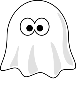 Ghost PNG Black And White