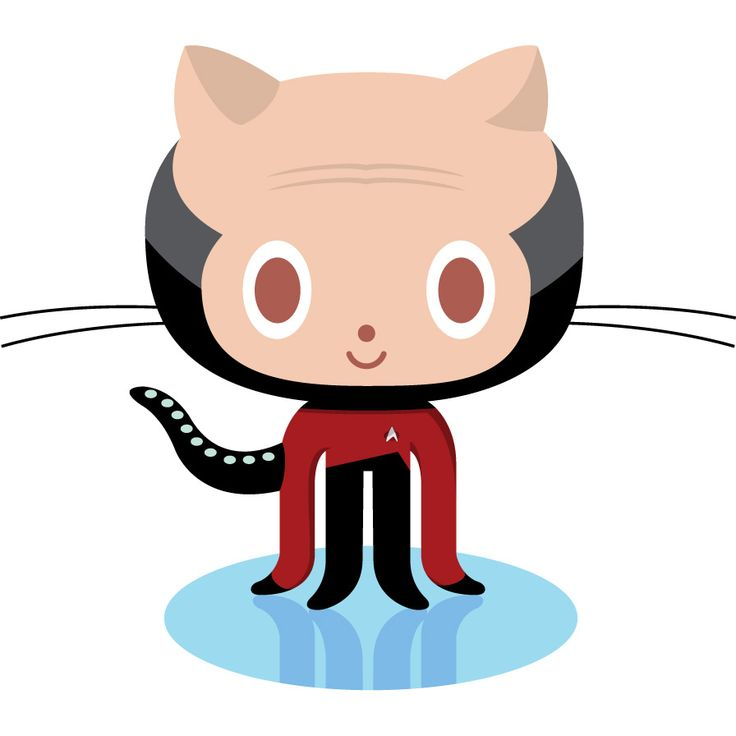 A Parody On The Github Logo, Octocat: Jean Luc Picat - Github Octocat, Transparent background PNG HD thumbnail