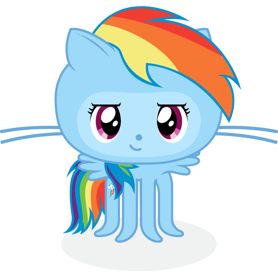The 20% Cooler Octocat - Github Octocat, Transparent background PNG HD thumbnail