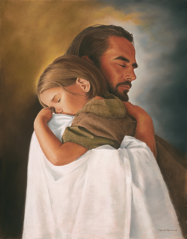 Jesus Holding A Child Prayer Request - God And Children, Transparent background PNG HD thumbnail