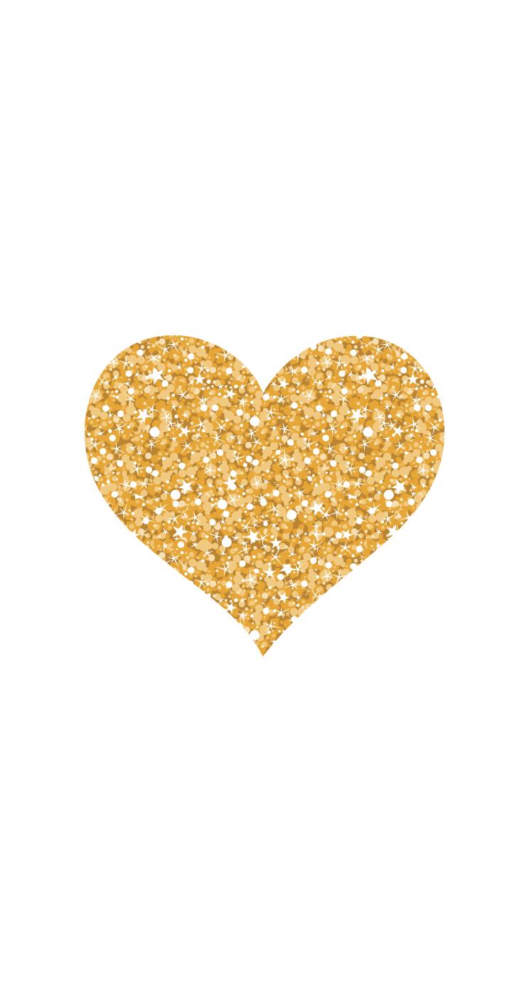 Gold Glitter Heart By Pei - Gold Glitter Heart, Transparent background PNG HD thumbnail