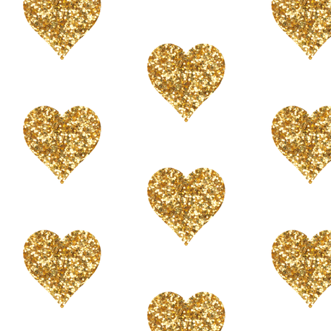 Gold Glitter Heart Fabric And Wallpaper On White. Contact Me For Custom Colors! Amy - Gold Glitter Heart, Transparent background PNG HD thumbnail
