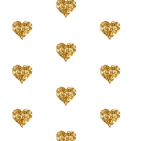 Small Hearts In Gold Glitter Fabric By Willowlanetextiles On Spoonflower   Custom Fabric - Gold Glitter Heart, Transparent background PNG HD thumbnail