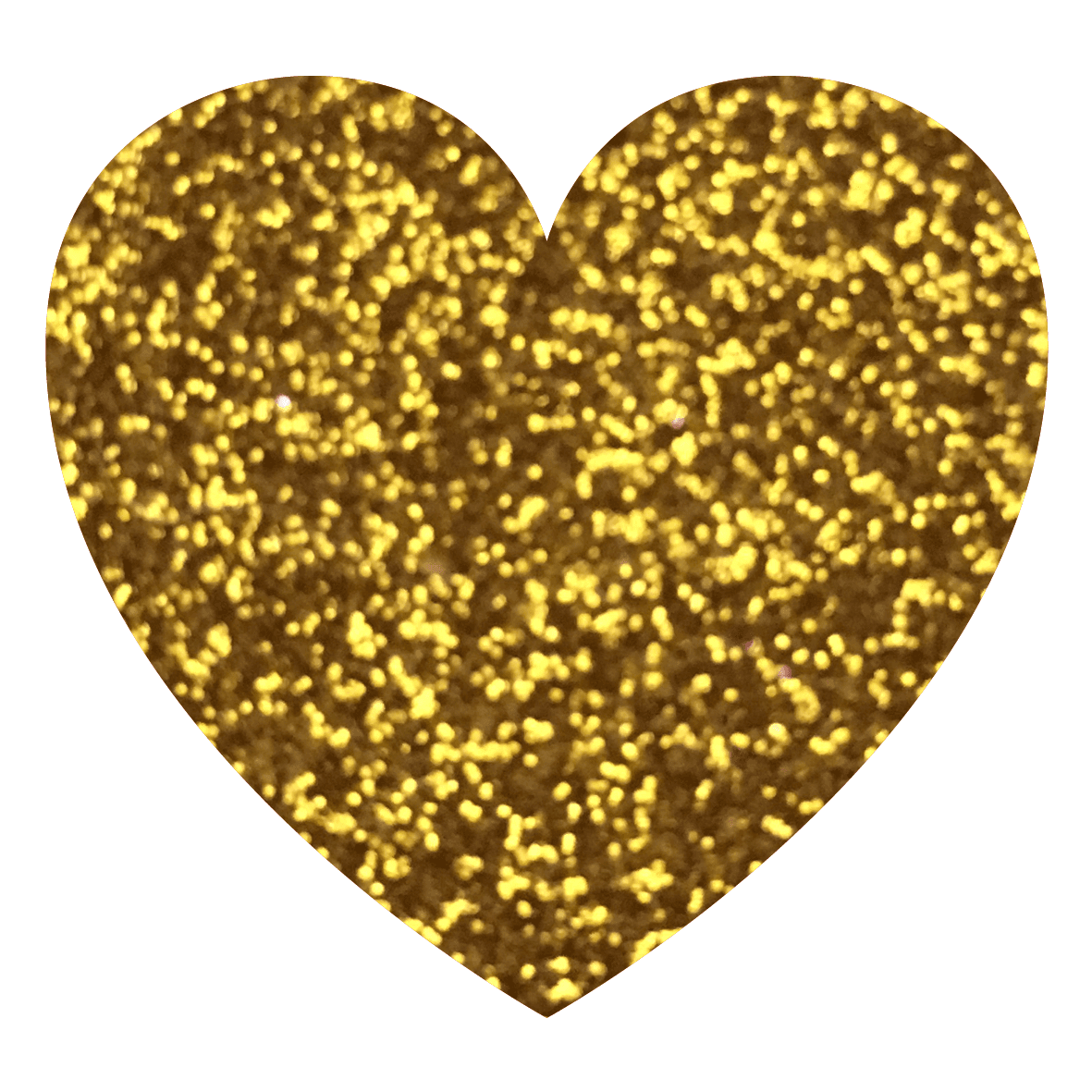 Yellow Gold - Gold Glitter Heart, Transparent background PNG HD thumbnail