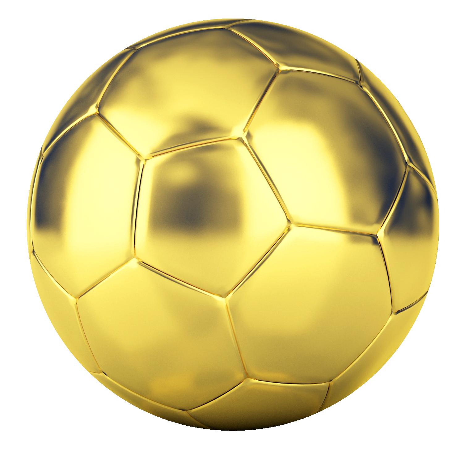Golden Football Png Transparent Image - Football, Transparent background PNG HD thumbnail