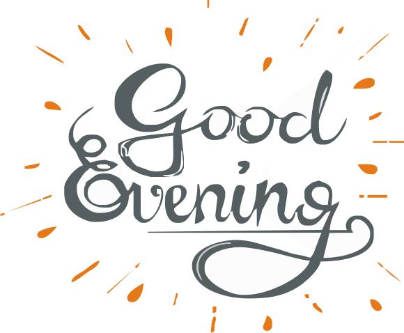 Good Evening Logo - Good Afternoon, Transparent background PNG HD thumbnail