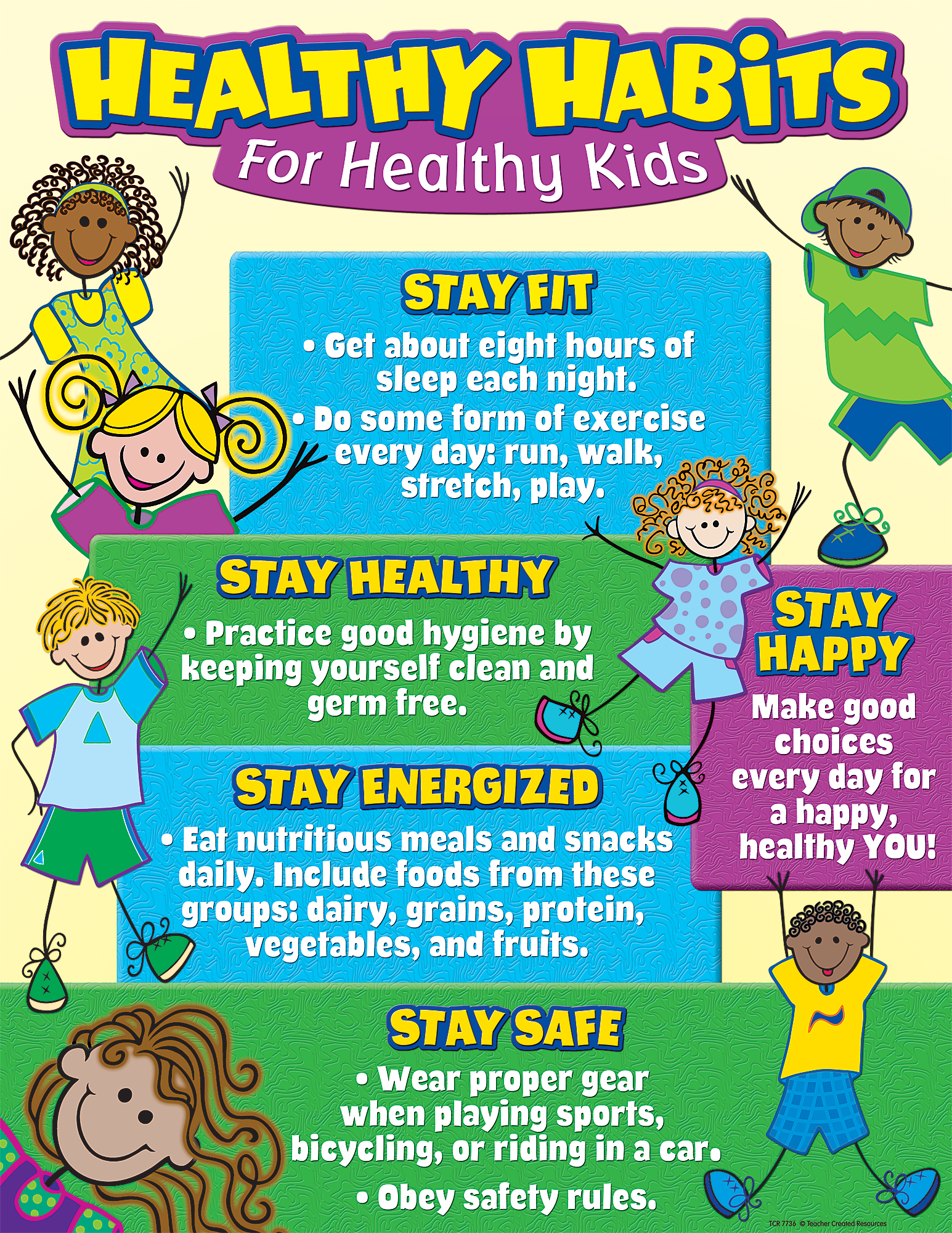 Healthy Habits For Healthy Kids Chart   Tcr7736   Teacher Created Resources - Good Habits For Kids, Transparent background PNG HD thumbnail