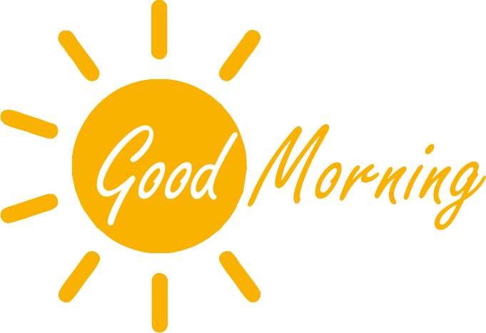 Gud Morning Logo - Good Morning, Transparent background PNG HD thumbnail