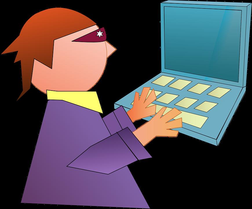Computer, Geek, Hacker, Laptop, Notebook, Technology - Hacker, Transparent background PNG HD thumbnail
