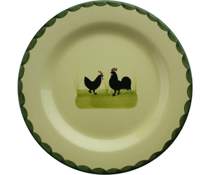 Zeller Keramik Hahn Und Henne Teller 25 Cm - Hahn Und Henne, Transparent background PNG HD thumbnail