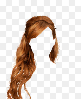 Golden Hair Wig Hair Clips To Pull The Free Graphics, Golden, Long Hair, · Png - Hair Wig, Transparent background PNG HD thumbnail
