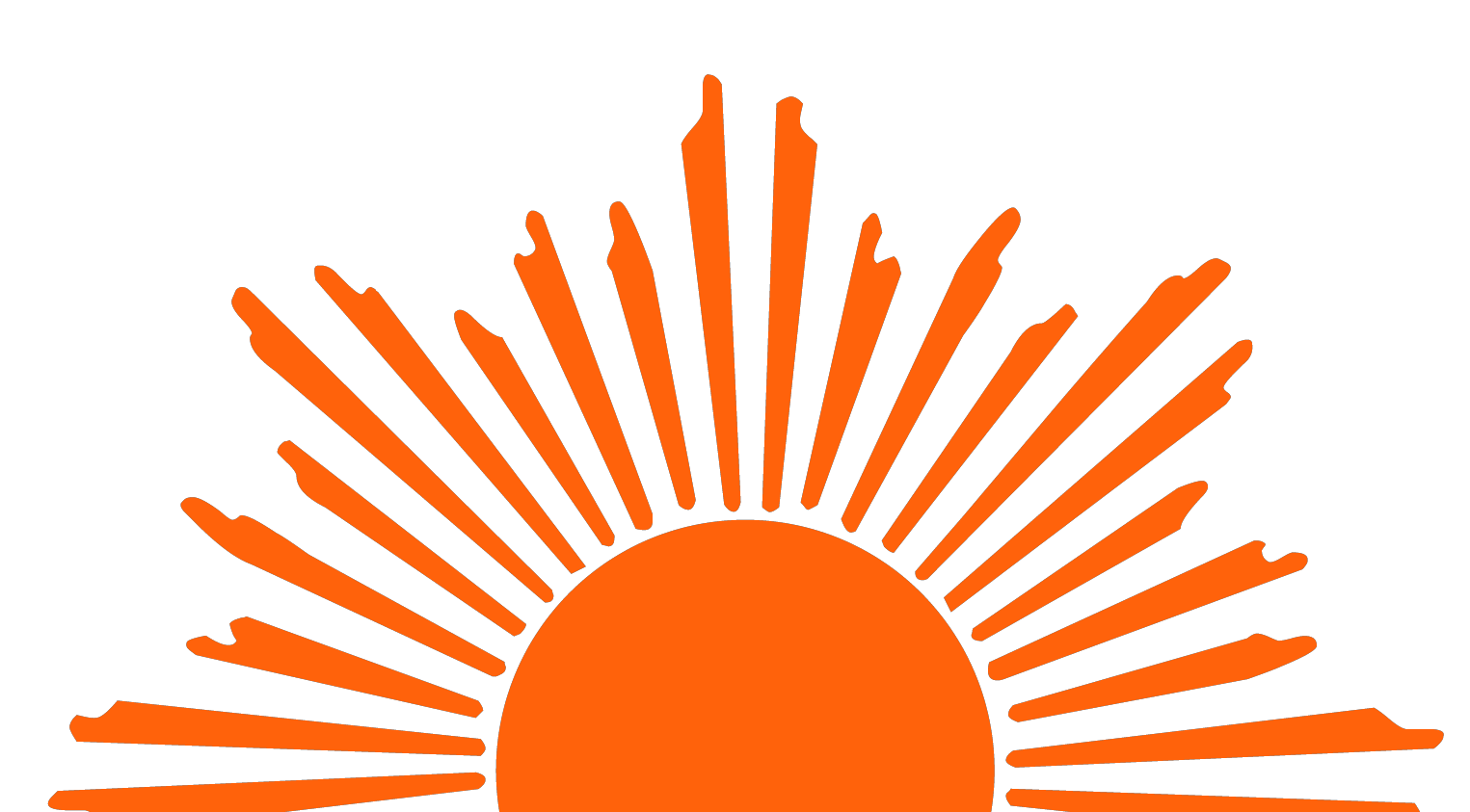 Half Sun With Rays PNG