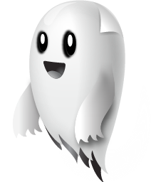 Happy Ghost Png - Happy Ghost Cliparts #2453907, Transparent background PNG HD thumbnail