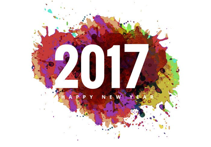 Happy New Year Png - 2017 Happy New Year Colorful Card Image #28831, Transparent background PNG HD thumbnail