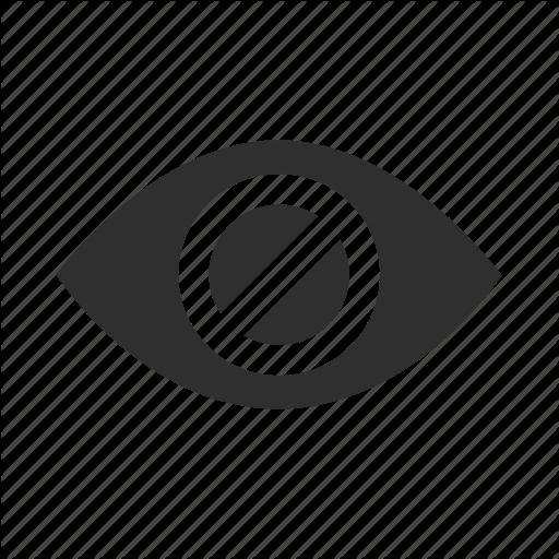 Blind, Dark, Disable, Disabled, Eye, Hidden, Hide Icon - Hidden, Transparent background PNG HD thumbnail