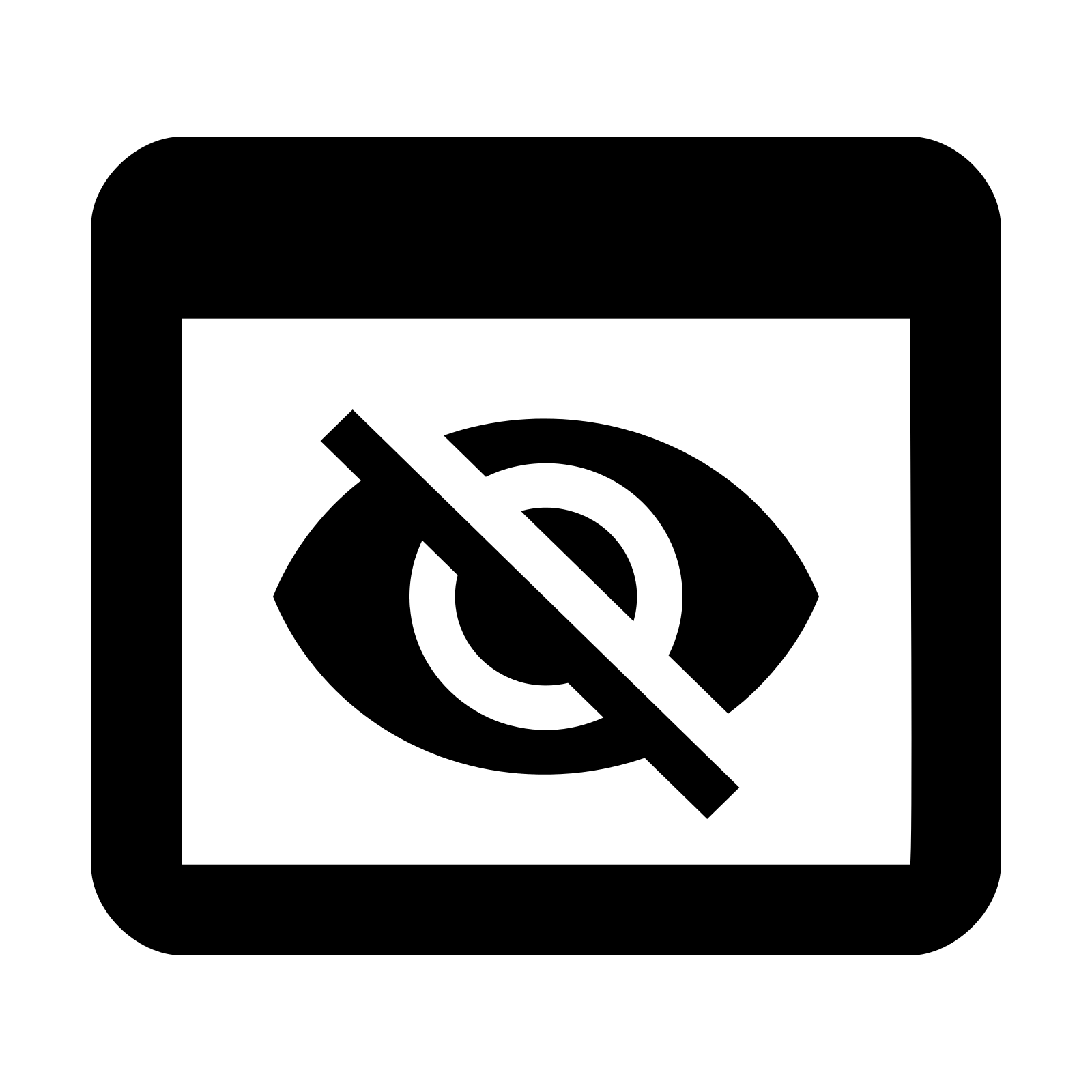 Mark View As Hidden Icon - Hidden, Transparent background PNG HD thumbnail