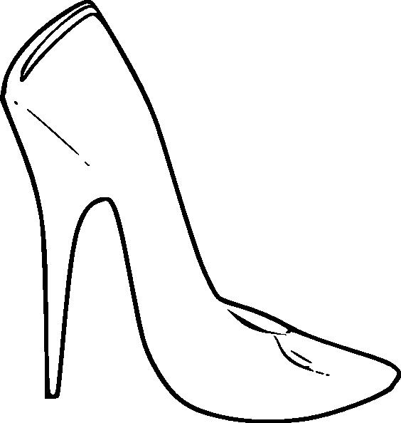 High Heel Outline PNG
