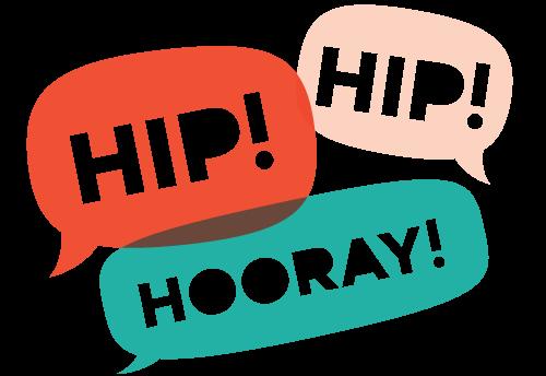 Three Cheers Hip Hip Hooray Clipart - Hip Hip Hooray, Transparent background PNG HD thumbnail