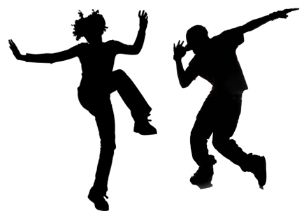 Hip Hop Dance PNG Black And White