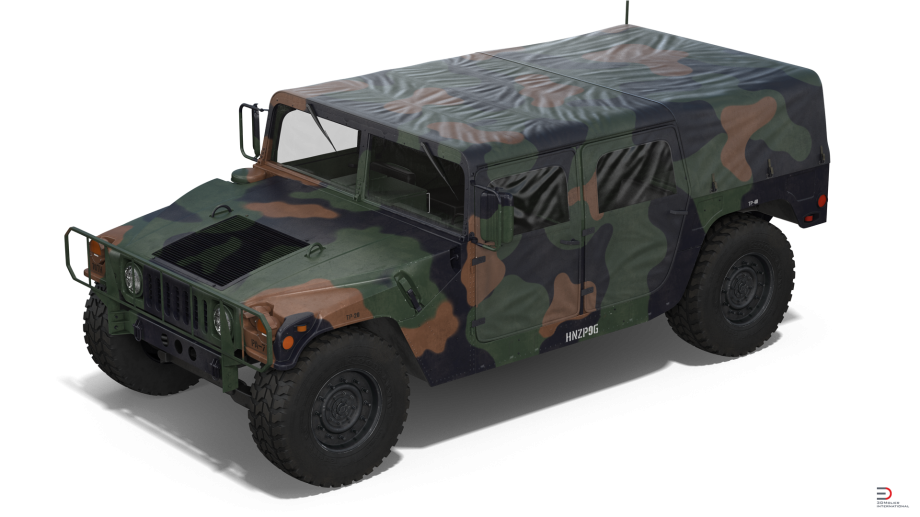 8 Troop Carrier Hmmwv Camo Royalty Free 3D Model   Preview No. - Hmmwv, Transparent background PNG HD thumbnail