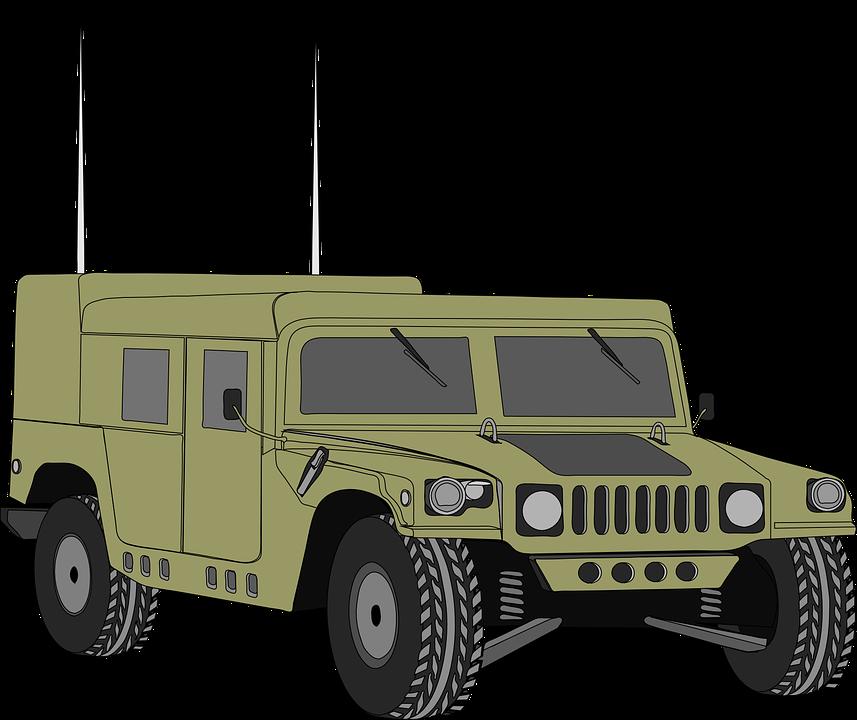 Hummer, Vehicle, Humvee, Hum V, Armored, Army, War - Hmmwv, Transparent background PNG HD thumbnail