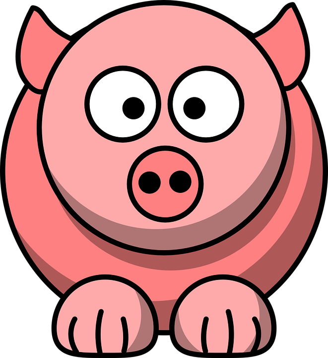 Animal, Pig, Pink, Cute, Face, Funny, Head, Mammal - Hog Head, Transparent background PNG HD thumbnail