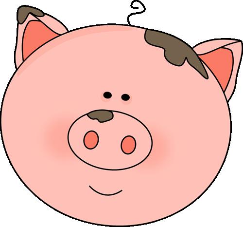 Muddy Pig Clipart - Hog Head, Transparent background PNG HD thumbnail