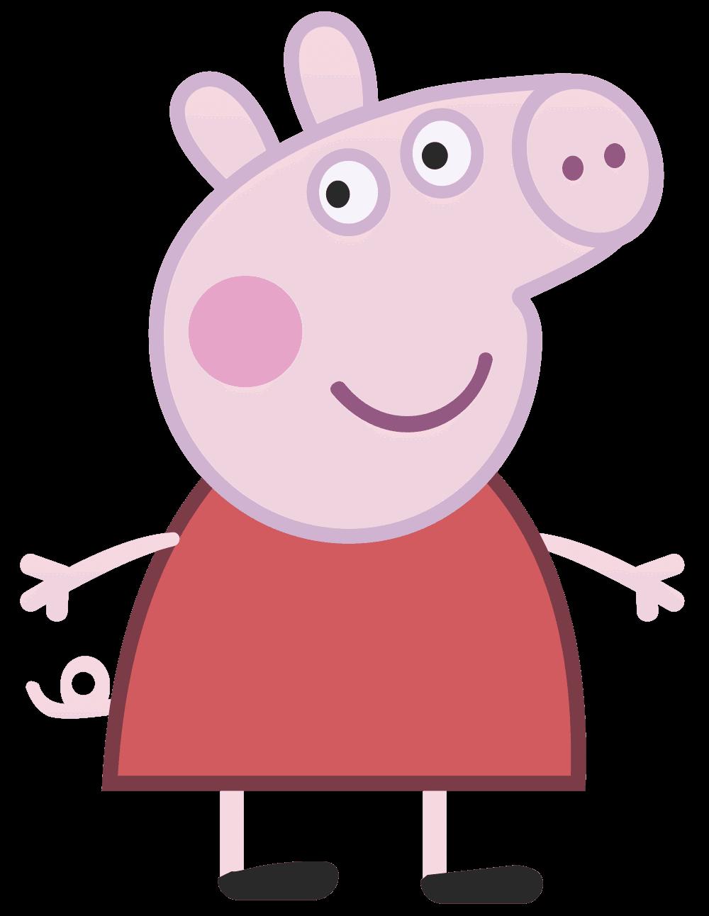 Peppa The Pig Head Clipart - Hog Head, Transparent background PNG HD thumbnail