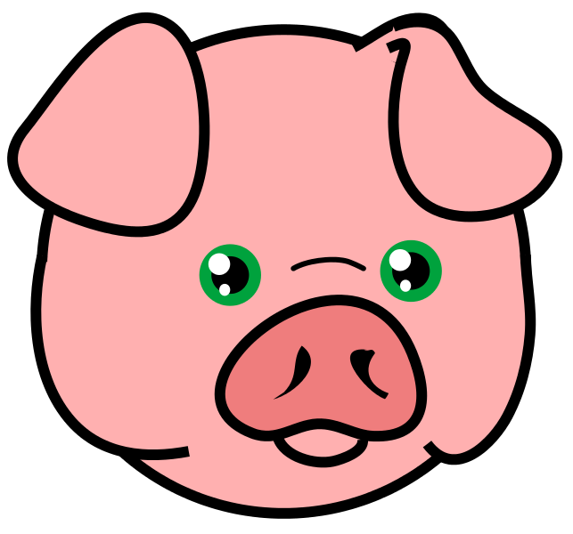 Pig Free To Use Cliparts 3 - Hog Head, Transparent background PNG HD thumbnail