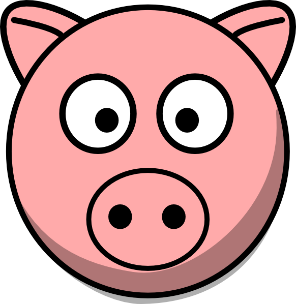 Pig Head Clip Art   Vector Clip Art Online, Royalty Free Public - Hog Head, Transparent background PNG HD thumbnail