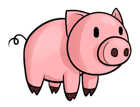 Pigs Cartoon Clipart - Hog Head, Transparent background PNG HD thumbnail