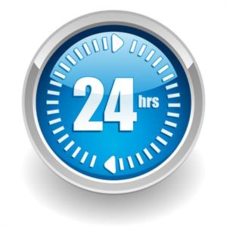 24 Hours Logo - Hrs, Transparent background PNG HD thumbnail