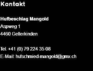 Kontakt Hufbeschlag Mangold Aspweg 1 4460 Gelterkinden Tel. 41 (0) 79 224 - Hufschmied, Transparent background PNG HD thumbnail