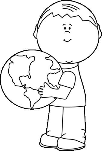 Black And White Boy Hugging Earth Clip Art   Black And White Boy - Hug Black And White, Transparent background PNG HD thumbnail