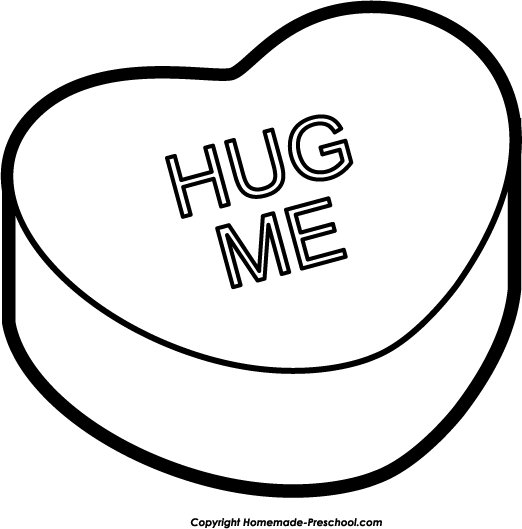 Heart Black And White Heart Clipart Black And White Hearts Heart 4 - Hug Black And White, Transparent background PNG HD thumbnail