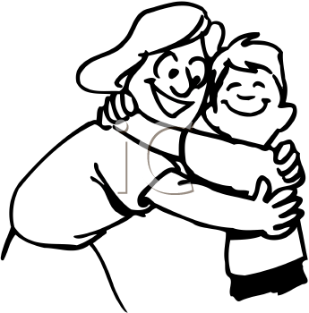 Pin Hug Clipart Black And White #10 - Hug Black And White, Transparent background PNG HD thumbnail