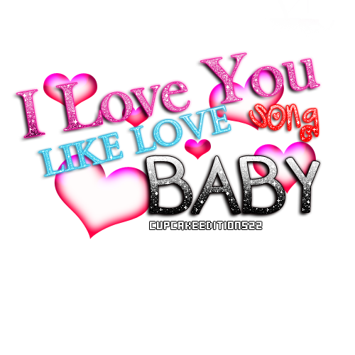 I Love You Like Love Song Png Text By Cupcakeeditions22 Hdpng.com  - Love Text, Transparent background PNG HD thumbnail