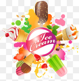 Summer Elements, Summer, Element, Ice Cream Png And Vector - Ice Cream Background, Transparent background PNG HD thumbnail