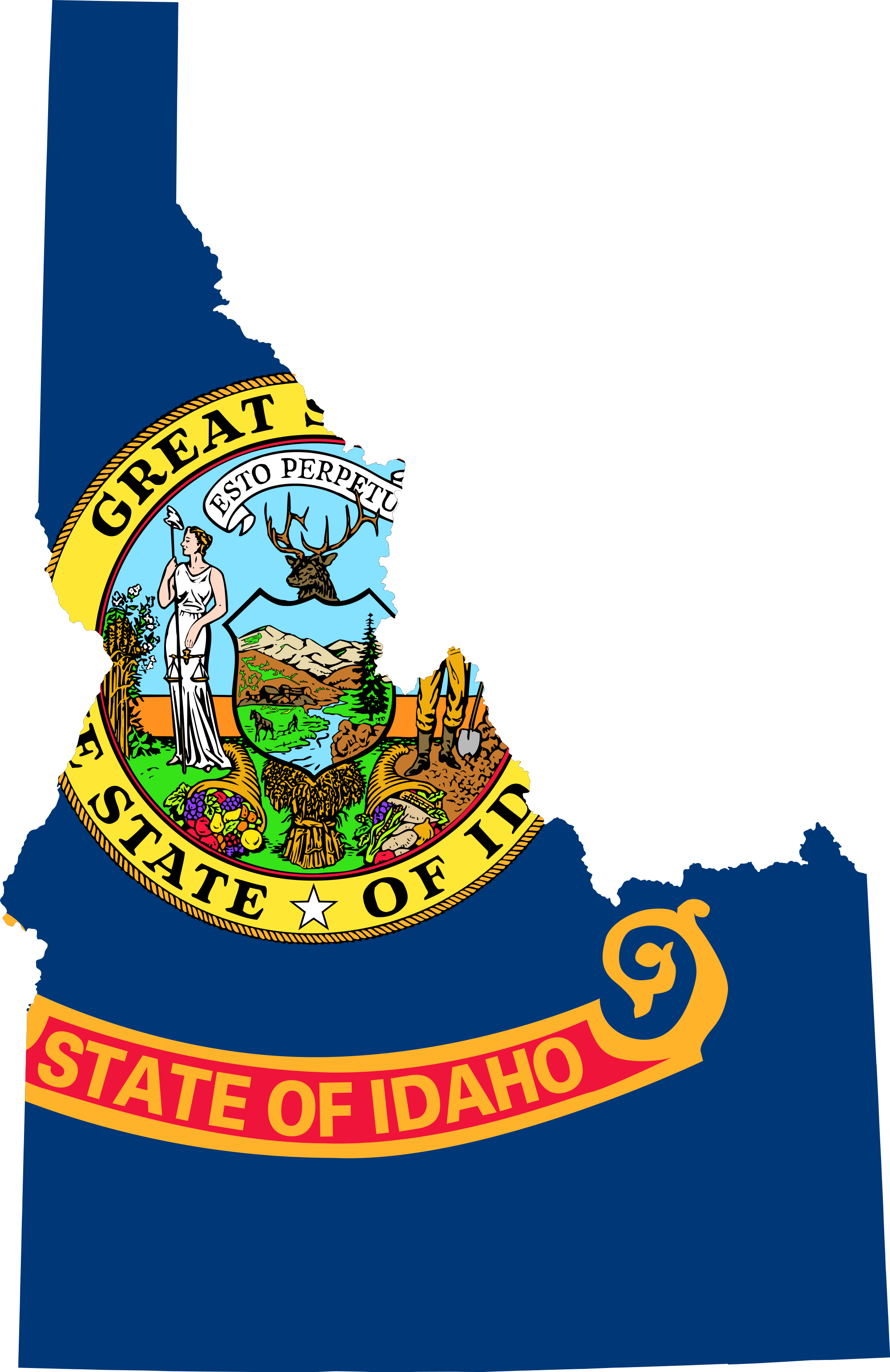 2000Px Flag Map Of Idaho.svg.png - Idaho, Transparent background PNG HD thumbnail