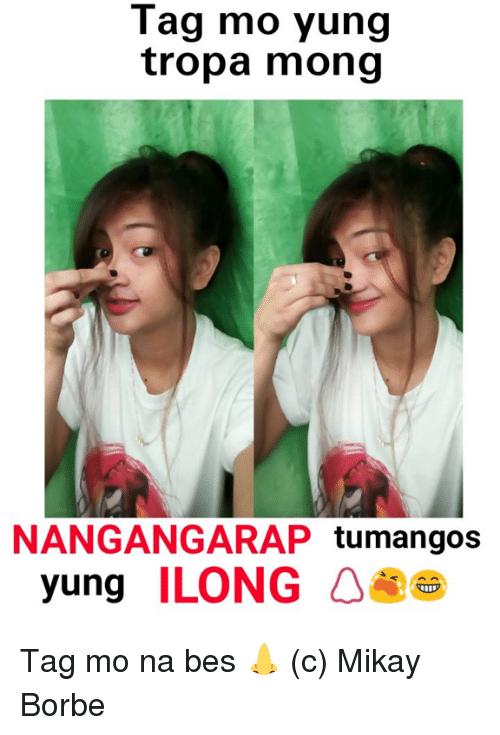 Filipino (Language), Bes, And Tropa: Tag Mo Yung Tropa Mong Nangangarap - Ilong, Transparent background PNG HD thumbnail