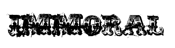 Immoral Font - Immoral, Transparent background PNG HD thumbnail