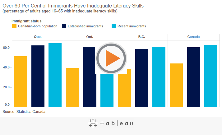 Over 60 Per Cent Of Immigrants Have Inadequate Literacy Skills - Inadequate, Transparent background PNG HD thumbnail