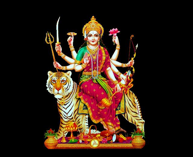 Indian Goddess Durga Matha Png Image For Banner Desing Vector Durga Matha Png Images For Free - Goddess Durga Maa, Transparent background PNG HD thumbnail
