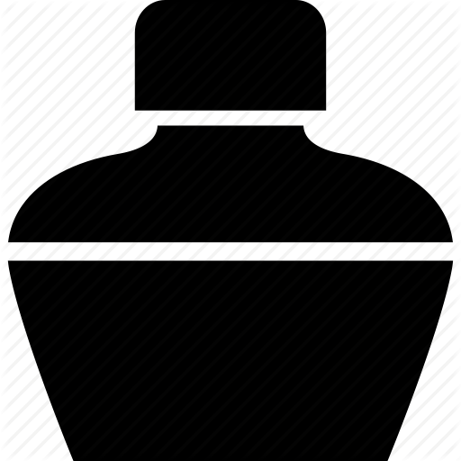 Ink Bottle PNG Black And White