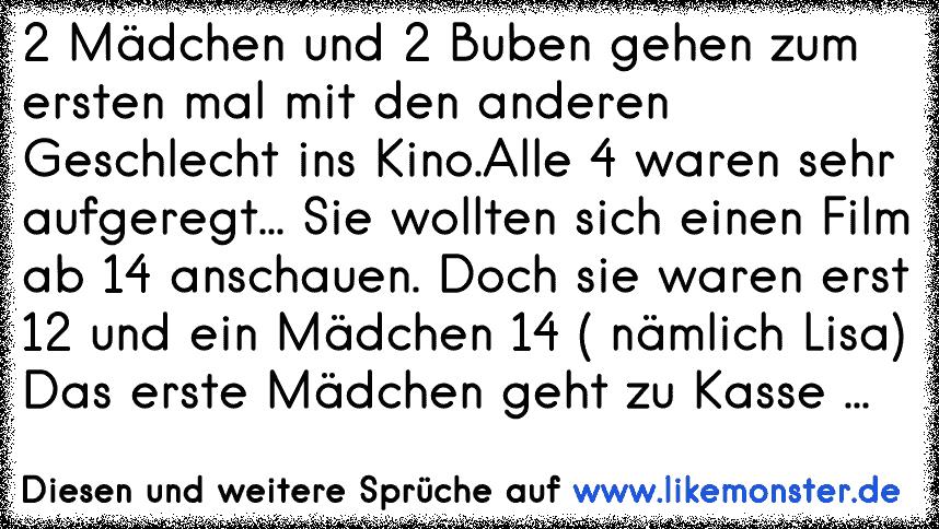2 Mädchen Und 2 Buben Gehen Zum Ersten Mal Mit Den Anderen Geschlecht Ins Kino. - Ins Kino Gehen, Transparent background PNG HD thumbnail